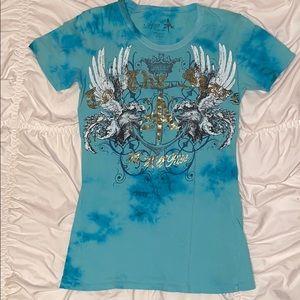 Women's large Aqua T-Shirt